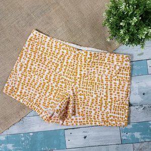"J. Crew Gold Pink Sunblock Print Shorts 3"" Size 6"
